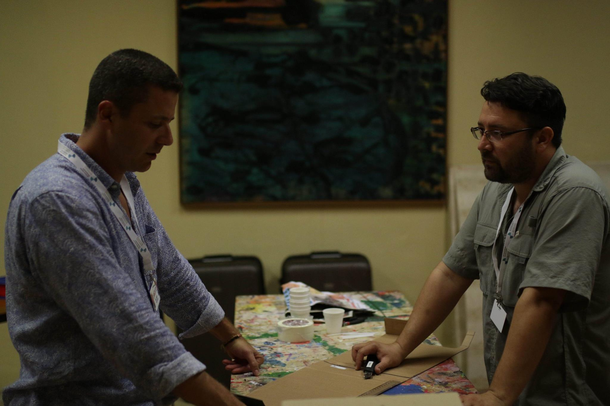 Pablo Pascale, a la izquierda, es el coordinador de Innovación Ciudadana.
