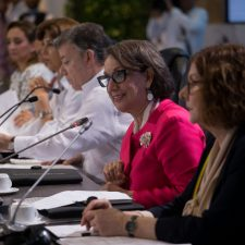 La Secretaria General Iberoamericana, en un momento de la Cumbre
