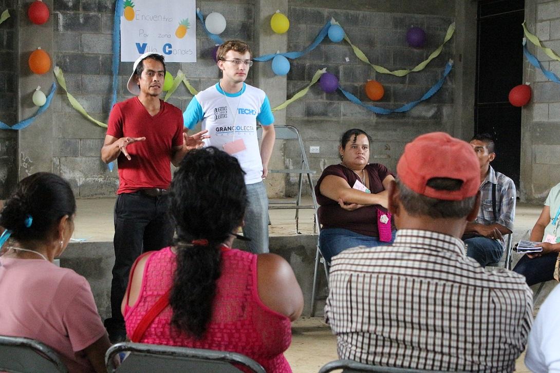 La importancia de empoderar a los líderes comunitarios es uno de los grandes retos. En la imagen, Guatemala. Foto: TECHO.