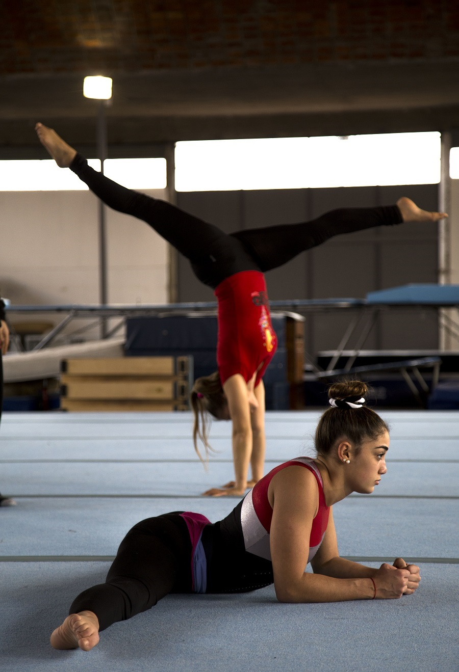 Gimnasio desarrollado con fondos de China para la realizaciónd de actividades de Gimnasia Artistica.  Producción Makarena Vinaja Fotos Pablo La Rosa.  Banco de imágenes AUCI.