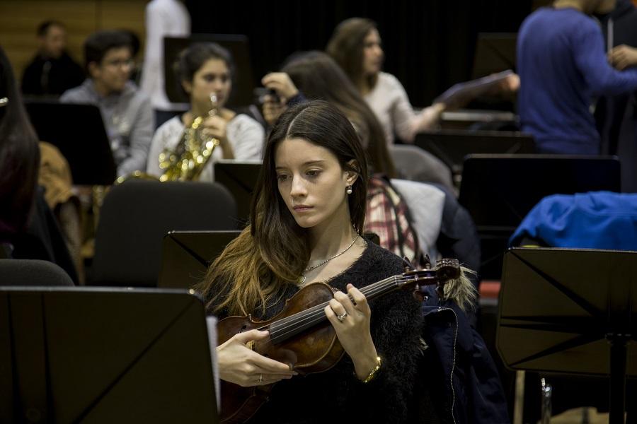 Orquestas Juveniles Orquesta Juvenil del Sodre. Producción Makarena Vinaja. Fotografías Pablo La Rosa.  Banco de imágenes AUCI.
